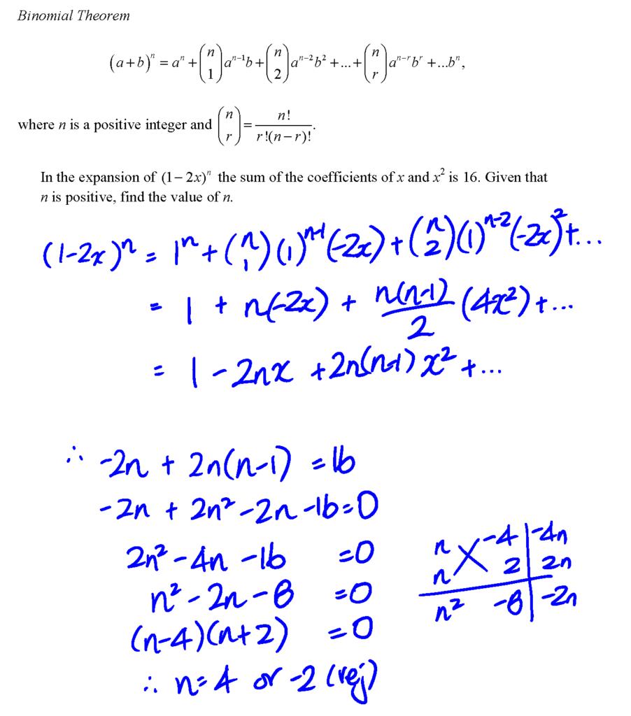 binomial theorem The binomial theorem date_____ period____ find each coefficient described 1) coefficient of x2 in expansion of (2 + x)5 80 2) coefficient of x2 in expansion .