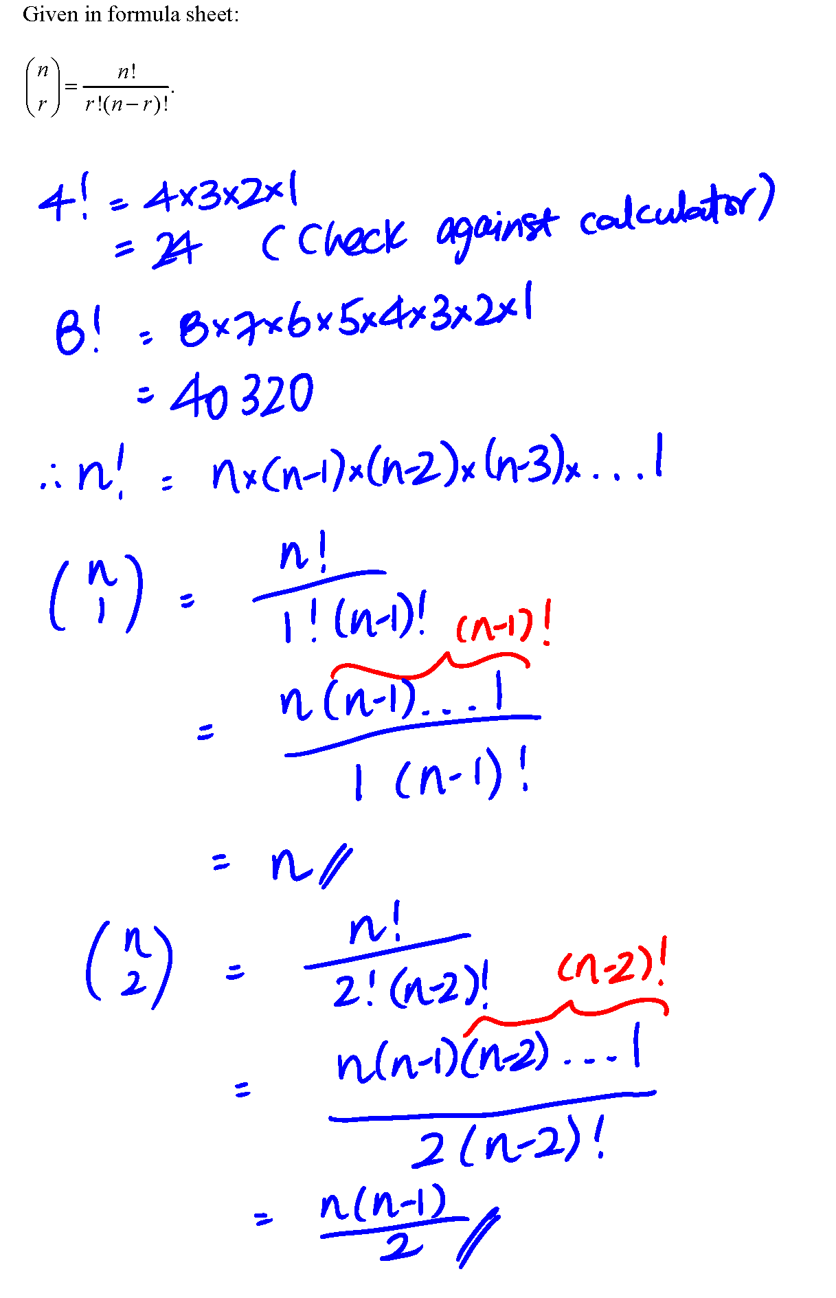 The Exclamation Mark In Binomial Theorem
