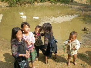 Village children enjoying themselves