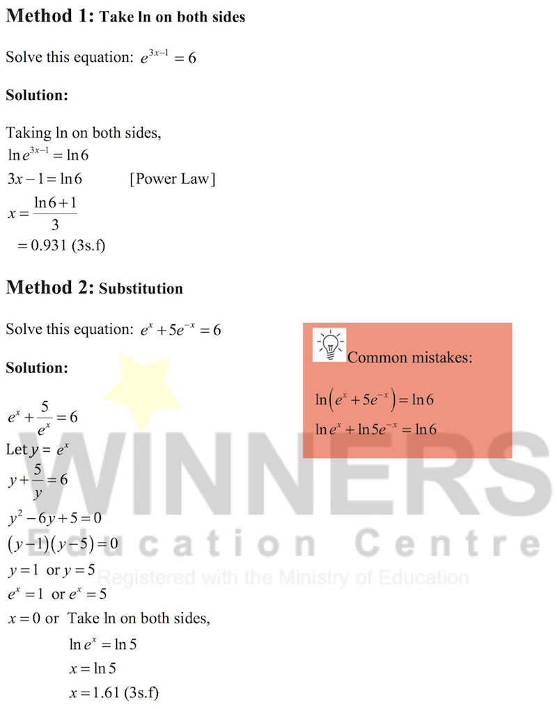Methods to Solve Exponential Equations